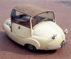 1956 Valle Chantecler, a truly adorable automobile! Microcar, Volkswagen, Automobile, Mercedez Benz, Weird Cars, Strange Cars, Crazy Cars, Pedal Cars, Unique Cars