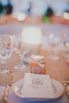 Jars of honey as favors // Photo by Ahava Studios, see more: http://theeverylastdetail.com/colorful-handmade-new-york-wedding/