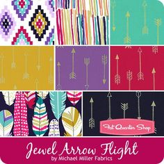 Jewel Arrow Flight Fat Quarter Bundle Michael Miller Fabrics - Fat Quarter Bundles | Fat Quarter Shop