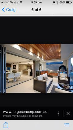 Love the Timber ceiling and bulk head