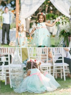 Adorable flower girls captured by We Heart Photography