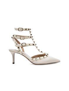 26eae8f62d0c Valentino Rockstud Leather Sandals ( 695) ❤ liked on Polyvore ...
