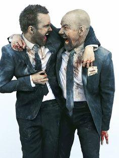 Entertainment Weekly photo shoot. Bryan Cranston and Aaron Paul