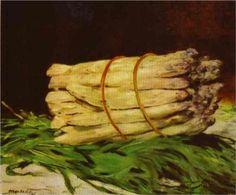 Bundle of aspargus - Edouard Manet 1880