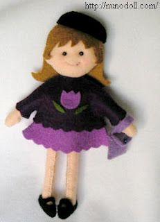 Felt Doll and Clothing