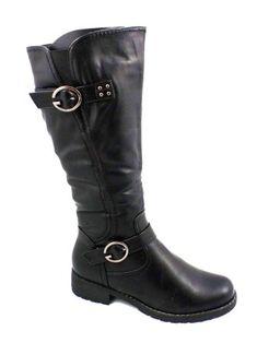 Cizme elegante RENDY negre,cu fermoar lateral.  Material exterior:inlocuitor piele.  Material interior: material imblanit de densitate medie.  Talpa foarte comoda,antiderapanta, cu toc de inaltime medie.