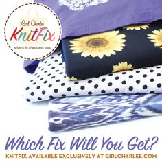 Girl Charlee Fabrics KnitFix :: A monthly surprise pick of knit fabrics!