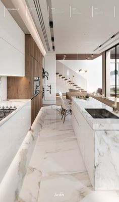 Luxury Kitchen Design, Kitchen Room Design, Dream Home Design, Kitchen Cabinet Design, Home Decor Kitchen, Interior Design Kitchen, Kitchen Ideas, Small Space Kitchen, Modern Interior