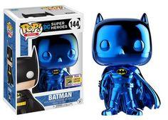SDCC 2017 Exclusives Wave 5: DC!   Funko - Pop! Heroes: Blue Chrome Batman (Toy Tokyo) #SDCC2017 Exclusive
