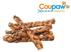 "7-Pack of All-Natural 6"" Braided Bully Sticks on sale w/ free shipping @ Coupaw.com"