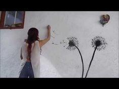 Mural decorativo-Diente de León ^_^ - YouTube