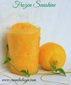Frozen Sunshine - everything you want in a snow cone! Cold, fresh and delicious!  www.crunchologie.com