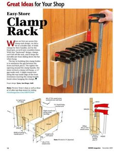 tools for beginners tools for sale tools homemade tools jigs tools must have tools workshop Wood Storage Rack, Garage Tool Storage, Workshop Storage, Garage Tools, Diy Workshop, Woodworking Workshop Plans, Woodworking Shop Layout, Woodworking Projects Diy, Diy Wood Projects