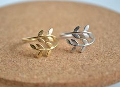 leaf ring,bay leaf ring,laurel ring,simple ring,gold leaf ring on Etsy, $9.80