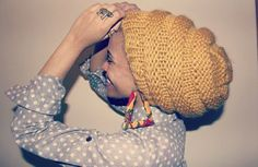 """Fran's Picks: Lit Knits Beehive Knit Hat  """"I have tons of beanies that don't fit all of my hair. This one is slouchy and still super cute. It's like a natural hair honeycomb hideout during the harsh winter winds.""""  $39, available at LitKnits"""