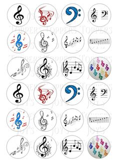 24 MUSIC NOTES CLEF CUPCAKE TOPPERS ICED ICING FAIRY CAKE BUN TOPPERS in Crafts, Cake Decorating | eBay