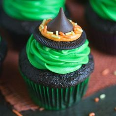 Happy October! Ready to embrace all things spooky, ghoulish, and Halloween?  You just need a few simple ingredients to make these WITCH HAT CUPCAKES. I'm all about easy holiday treats that look impressive but are easy enough for my 3-year-old to help with   Clickable link to the recipe is in my profile @tastesbetterfromscratch  http://tastesbetterfromscratch.com/2016/10/witch-hat-cupcakes.html