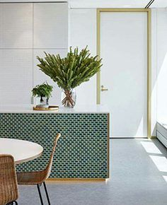 New kitchen interior green subway tiles 23 Ideas Küchen Design, Deco Design, House Design, Design Ideas, Green Home Design, Design Layouts, Interior Architecture, Interior And Exterior, Color Interior