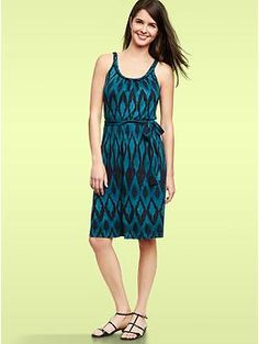 Braided print dress | Gap LOVE this for Mom in either color! A great start to your family's color palette!