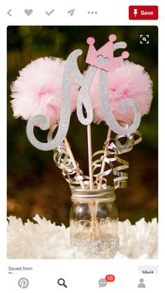 Baby Shower Decorations / Princess Party Decorations/ Pink and Silver Party/ Girl Baby Shower/ First Birthday Photo Prop Centerpiece - Baby Shower Deco Baby Shower, Girl Shower, Shower Party, Baby Shower Parties, Baby Shower Themes, Baby Shower Decorations, Shower Ideas, Baby Decor, Nursery Decor