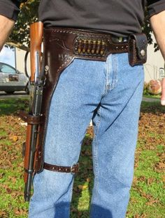 Mares Leg Western Pistol Rigs and Scabbards: