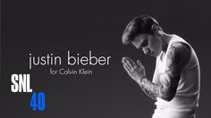 Calvin Klein Ad - Saturday Night Live Justin Bieber (Kate McKinnon) strips down for a new set of Calvin Klein underwear ads.