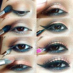 Holiday glam cat eye makeup tutorial