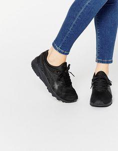 asics gel kayano evo black sneakers