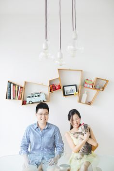Simple and sweet! An engagement shoot at home | Home Is Where the Heart Is: John and Rui Ying's Singapore Engagement Session