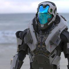 By Nemanja Stankovic (artist by ArtStation) Robot Concept Art, Armor Concept, Robot Design, Helmet Design, Armadura Cosplay, Space Opera, Tactical Armor, Mecha Suit, Arte Cyberpunk