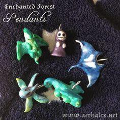 Enchanted Forest handmade pendants