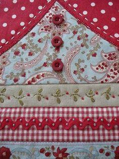 I ❤ crazy quilting & embroidery. . . Babushka Beauty detail- 'Babushka Beauty' from Handmade magazine Vol 25 No 10 by the very talented Australian Jhoanna Monte Aranez. ~By Bloom and Blossom