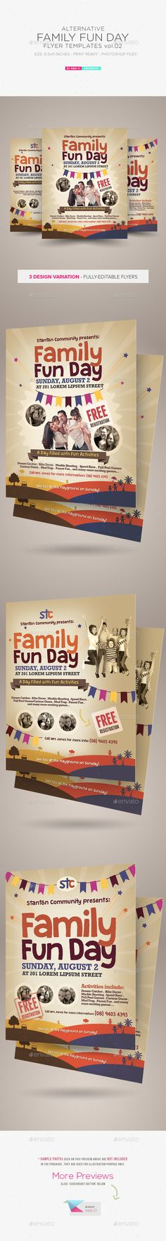 Family Day Flyer Flyer Template Edit Text And Event Flyers