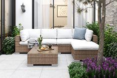 Bahamas Loungegruppe 6 Pers. 2 Divan/Bord - Sand | Trademax.no Outdoor Sectional, Sectional Sofa, Outdoor Furniture, Outdoor Decor, Spa, Exterior, Garden, Home Decor, Homemade Home Decor