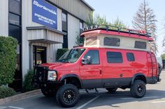 Here's the last Ford E-350 van to roll off the line at Sportsmobile...but not to worry...  Ford will continue to produce chassis cabs and Sportsmobile has built its own body called the  Classic design based on the E-series cutaway.