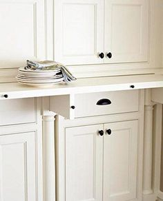 pull out extendable countertops | hidden pull out counter in the pantry