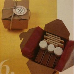 Smores party favors. Great for camping trips!