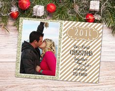 Our First Christmas together Holiday Card by ChalkfullofDelight
