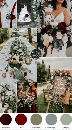Sage wedding colors { Sage green wedding theme } - Looking for a wedding colour that refreshing? Sage wedding color is the one, Sage wedding colors are easily spiced up with any color Vintage Wedding Colors, Winter Wedding Colors, Wedding Colours, Winter Weddings, Wedding Color Schemes Fall Rustic, October Wedding Colors, Spring Wedding, Green Wedding Themes, Colors For Weddings