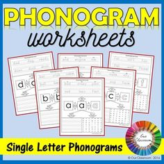 Phonogram worksheets for the Spalding Reading Method. A great way for students to practise phonograms, handwriting and spelling!