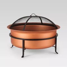 """Copper Wood Burning Fire Pit 29"""" - Round - Smith & Hawken™"""