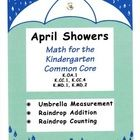 """Three fun math activities with a spring theme. Gem """"raindrops"""" (the kind used in planters work well) are placed in centers to help students with ad..."""