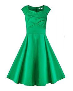 Women's 1950s Vintage Dresses Cap-sleeves Swing Stretchy ... https://www.amazon.com/dp/B01H5HEV9Q/ref=cm_sw_r_pi_dp_x_o10Byb8FH432B