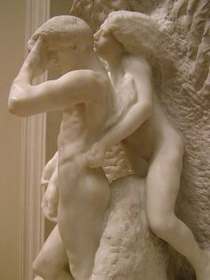 Auguste Rodin, Orpheus and Eurydice, 1893, detail 7 by DeBeer, via Flickr