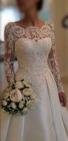 Sexy Backless white/ivory Manga Longa Laço vestido de noiva de vestido de casamento Tamanho Personalizado