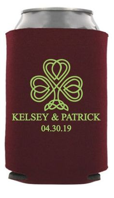 Check out this customizable product from www.totallyweddingkoozies.com//store/one-color-collapsible-wedding-can-cooler.html?template=6786&sku=TWC