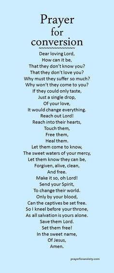 Prayer for conversion