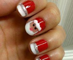 ongles père Noël