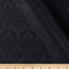 Wednesday Fabric  Royal Jacquard Black from @fabricdotcom  This woven, medium weight cotton damask/jacquard cloth is very versatile and perfect for window treatments (draperies, curtains, valances, and swags), bed skirts, duvet covers, pillow shams, accent pillows, tote bags, aprons and table top.