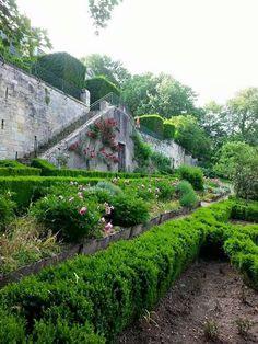 Garden in France at Hotel la Croix du Vernuche